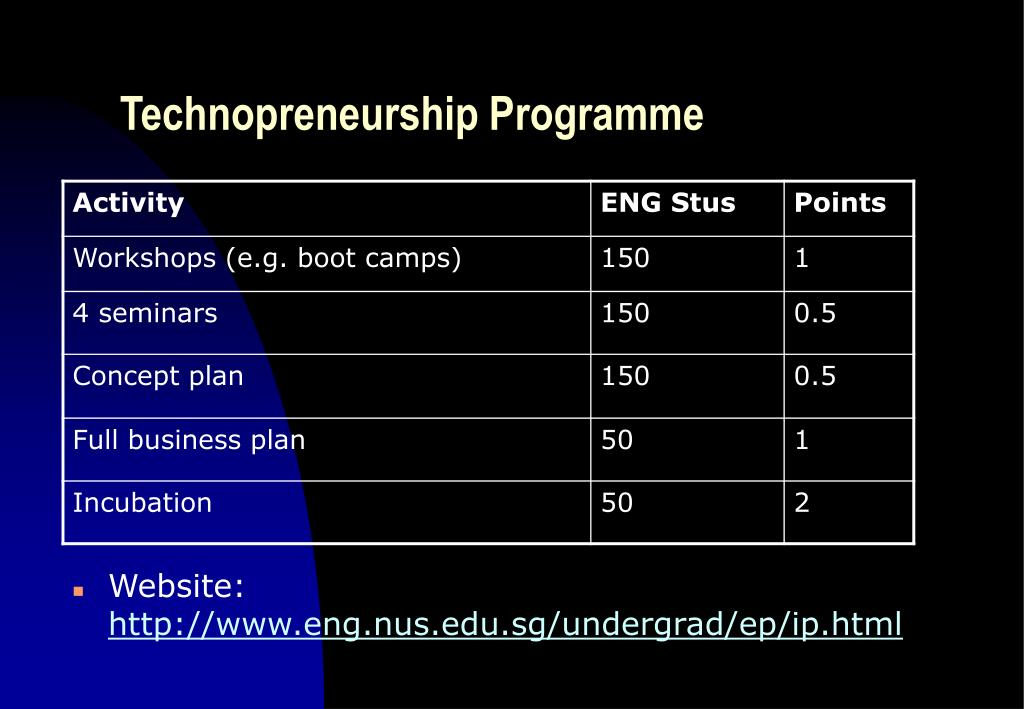 Technopreneurship Programme