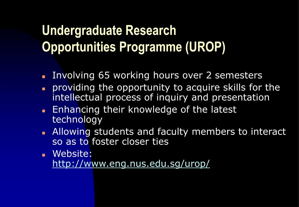 Undergraduate Research Opportunities Programme (UROP)