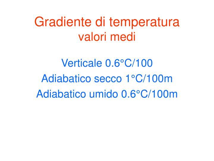 Gradiente di temperatura