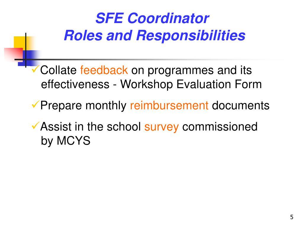 SFE Coordinator