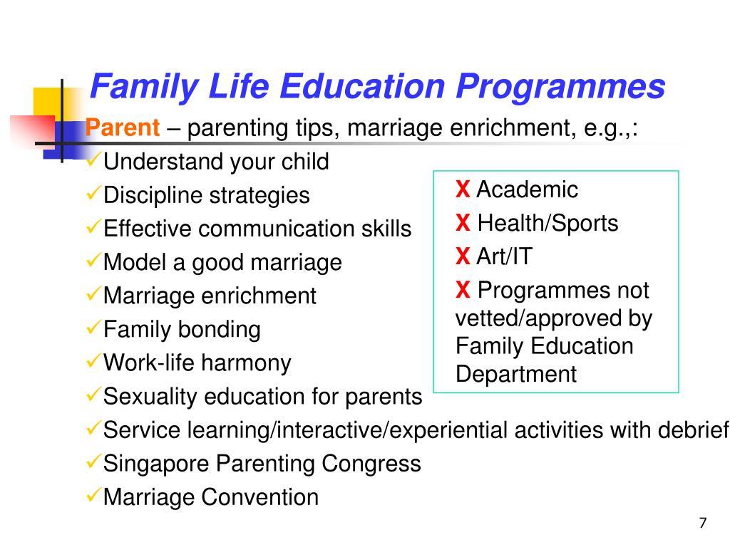Family Life Education Programmes