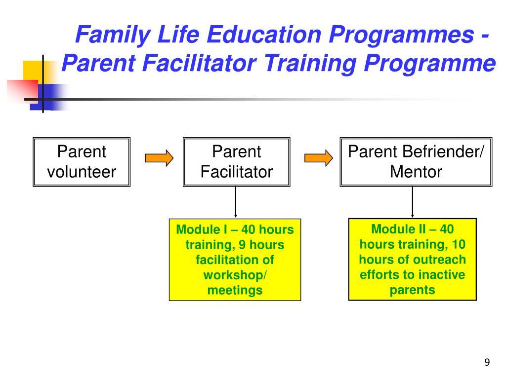 Family Life Education Programmes -