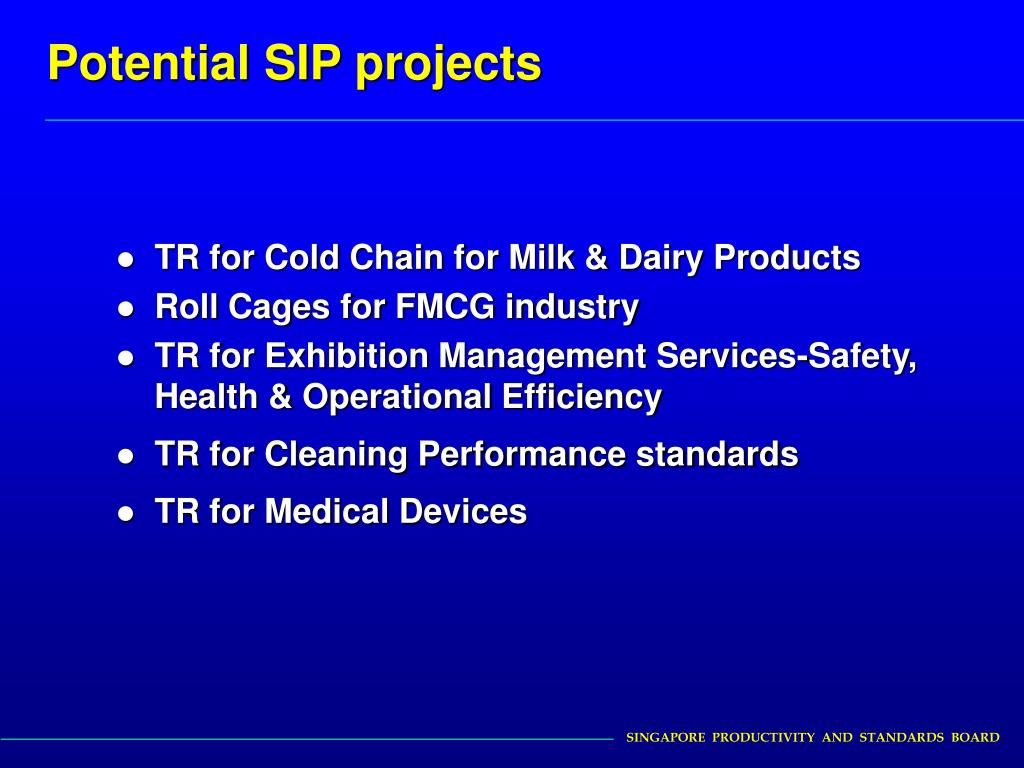 Potential SIP projects