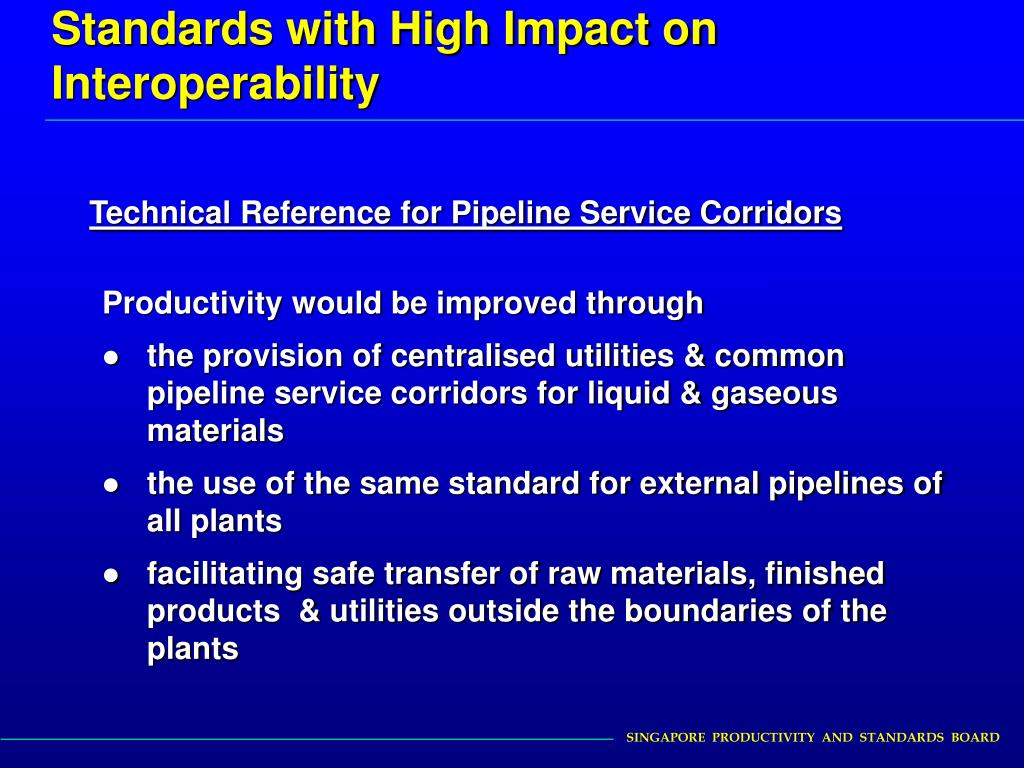Standards with High Impact on Interoperability