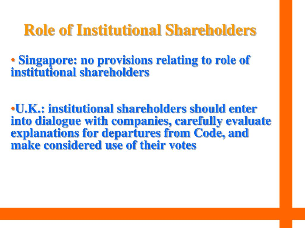 Role of Institutional Shareholders
