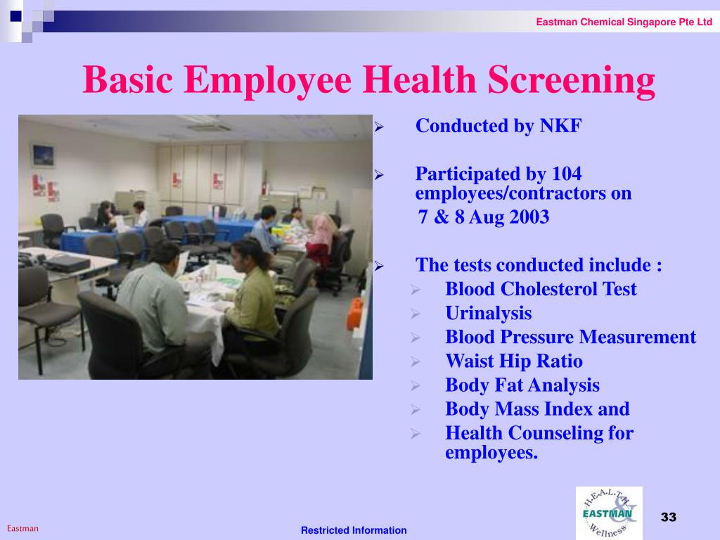 Basic Employee Health Screening