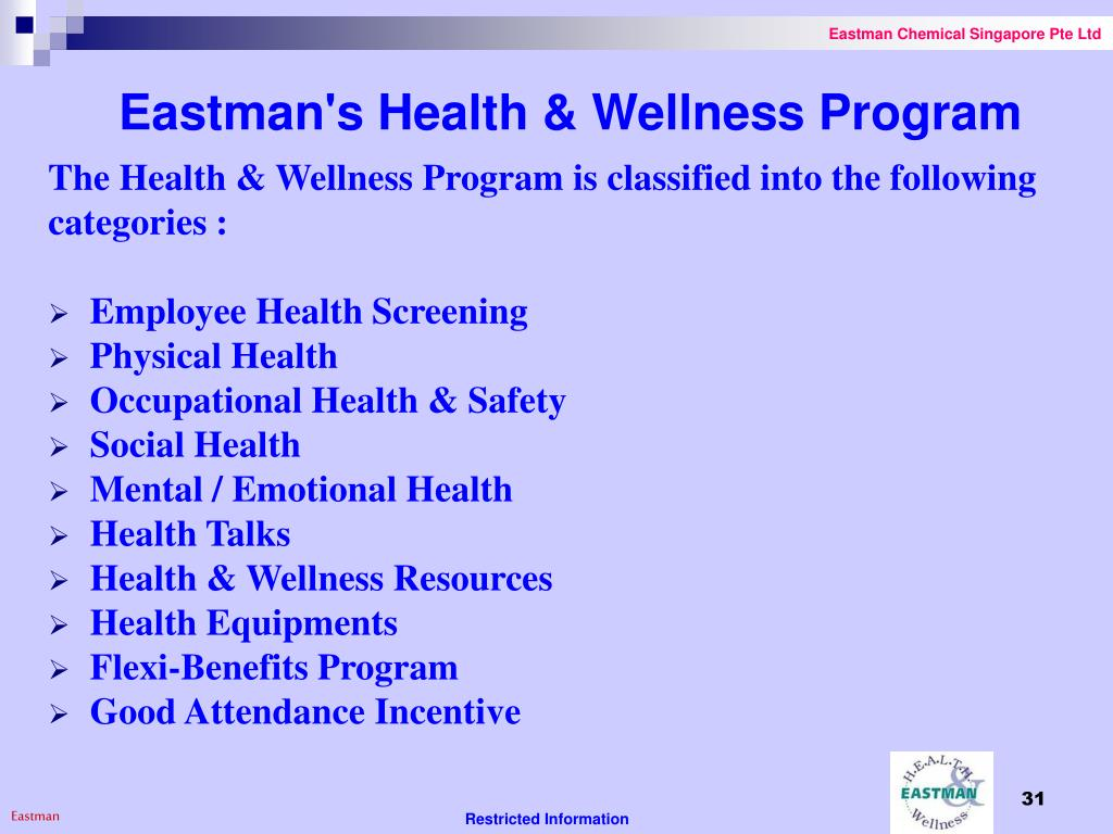 Eastman's Health & Wellness Program