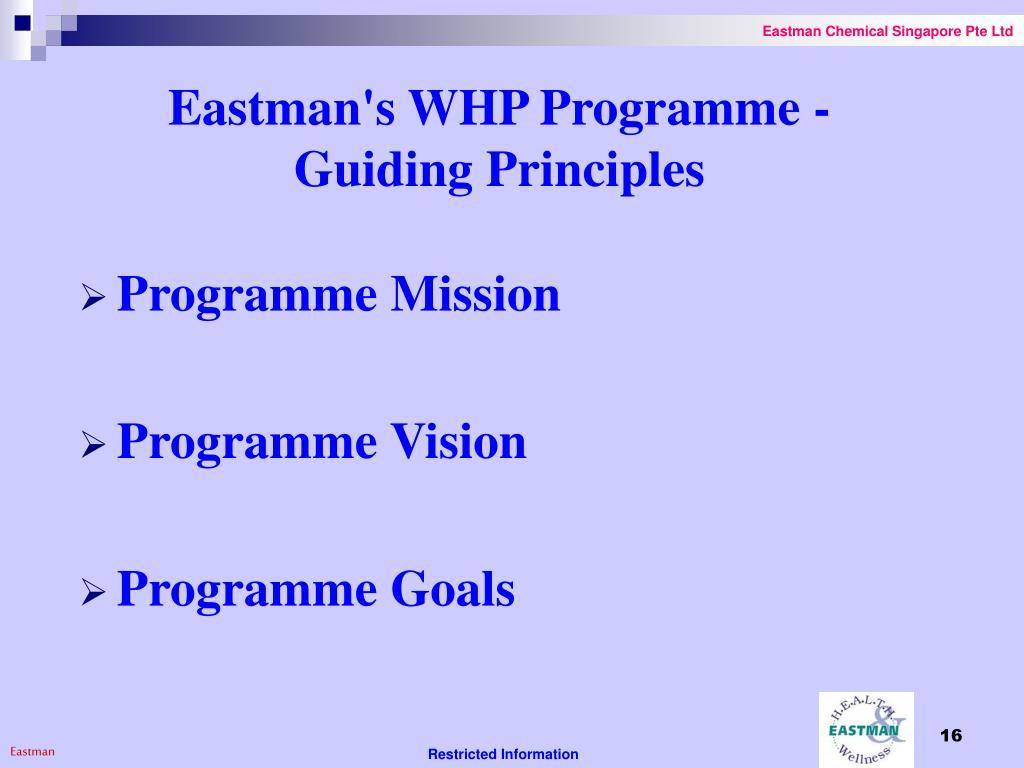 Eastman's WHP Programme -