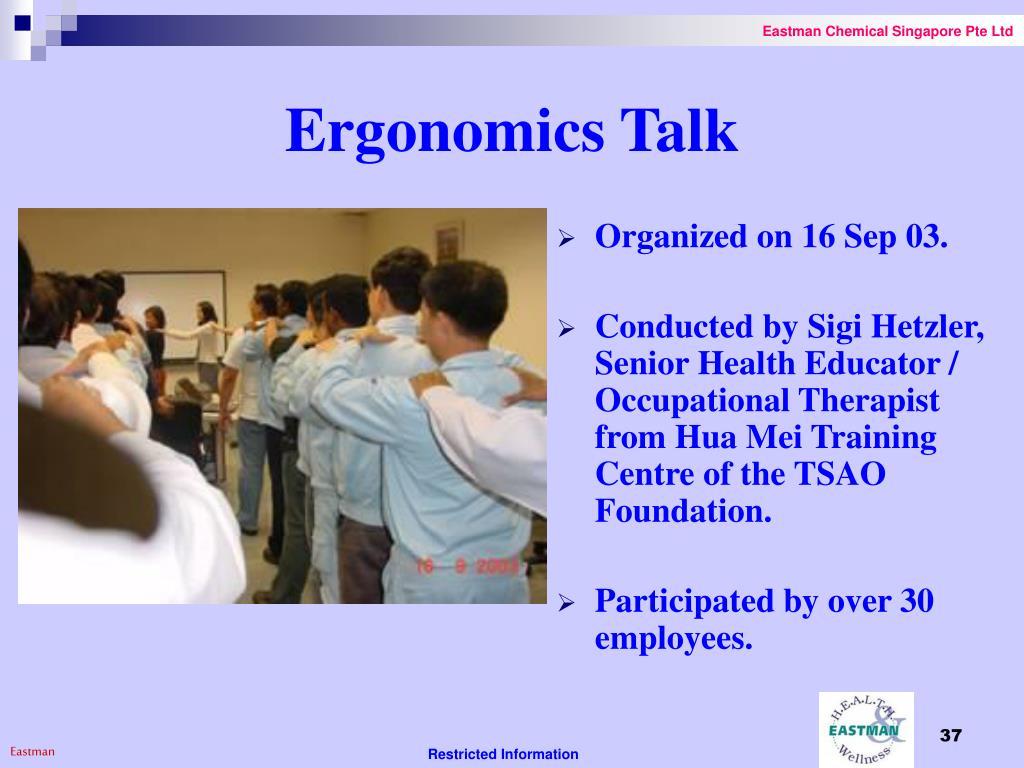 Ergonomics Talk