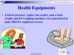 health equipments