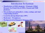 introduction to eastman
