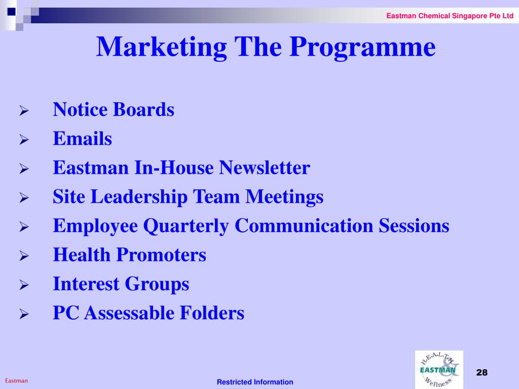 Marketing The Programme