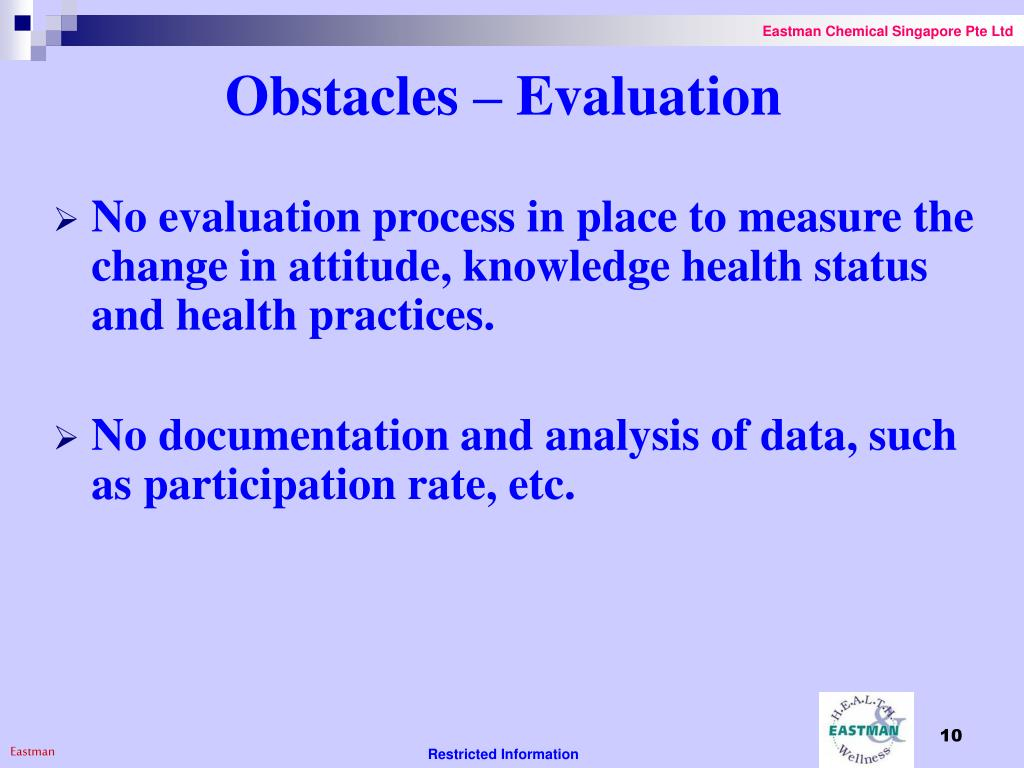 Obstacles – Evaluation