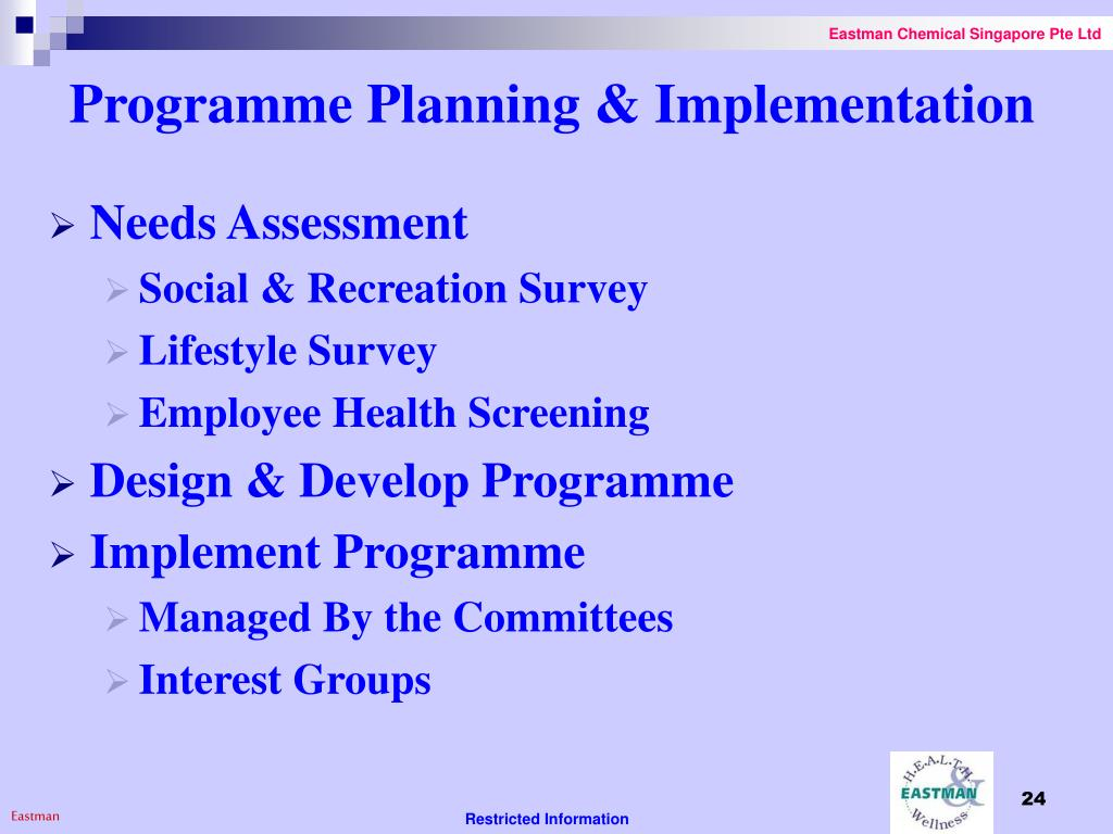 Programme Planning & Implementation