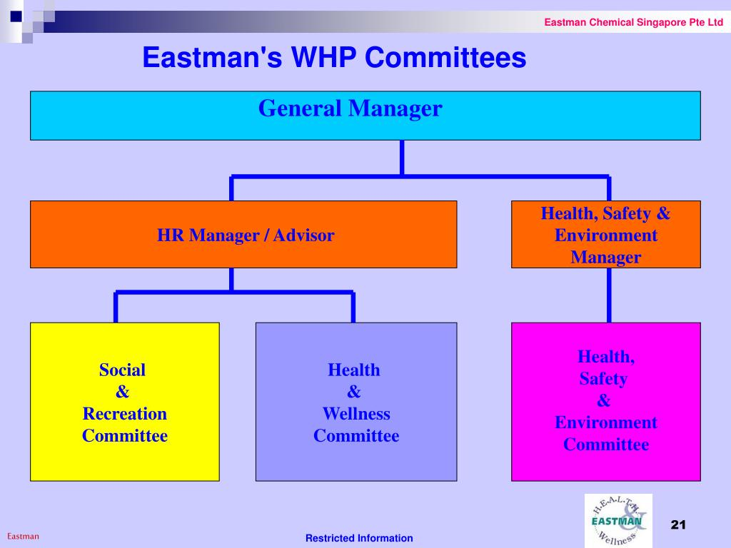 Eastman's WHP Committees