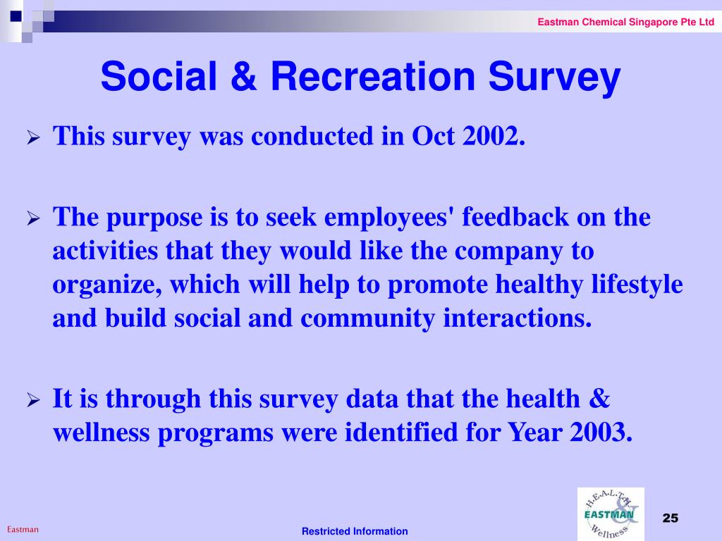 Social & Recreation Survey