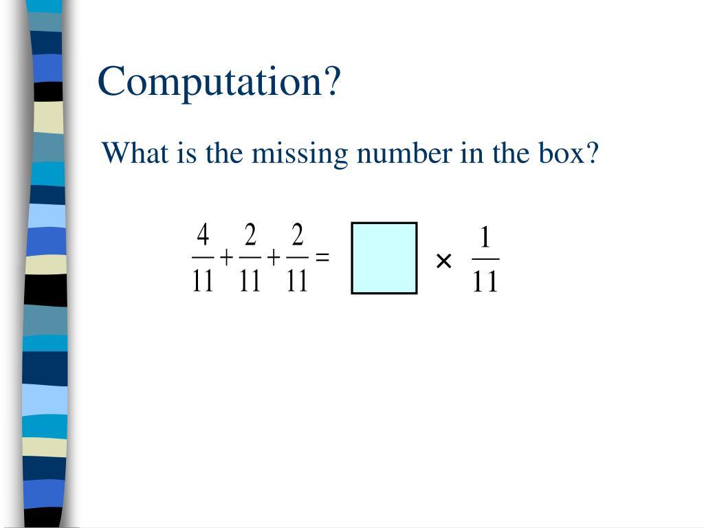 Computation?