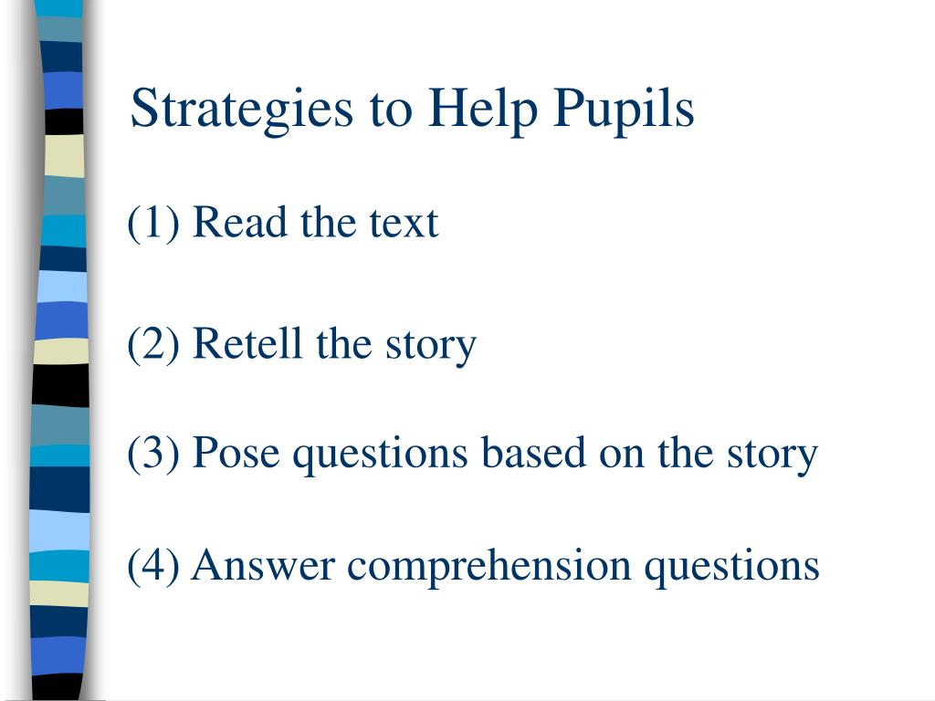 Strategies to Help Pupils