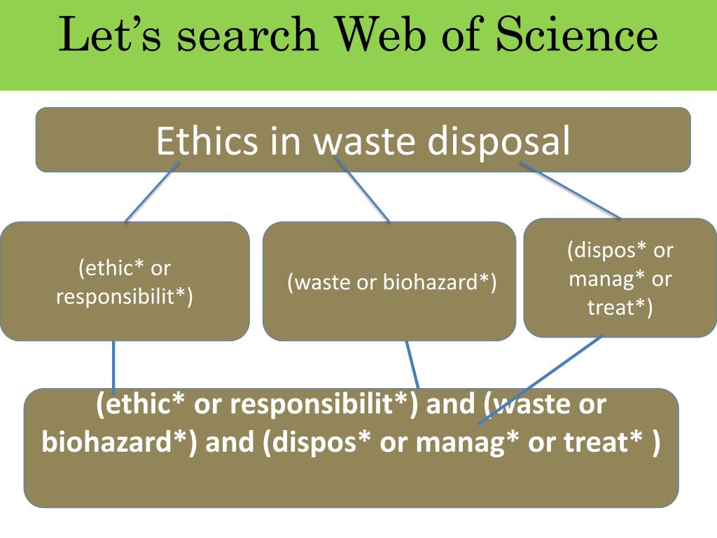 Let's search Web of Science