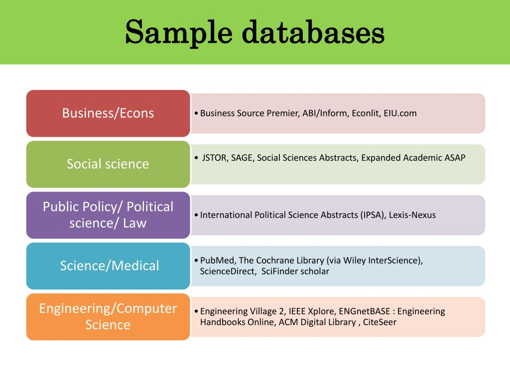 Sample databases