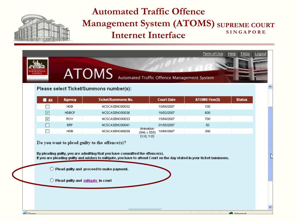 Automated Traffic Offence