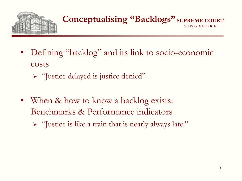 "Conceptualising ""Backlogs"""