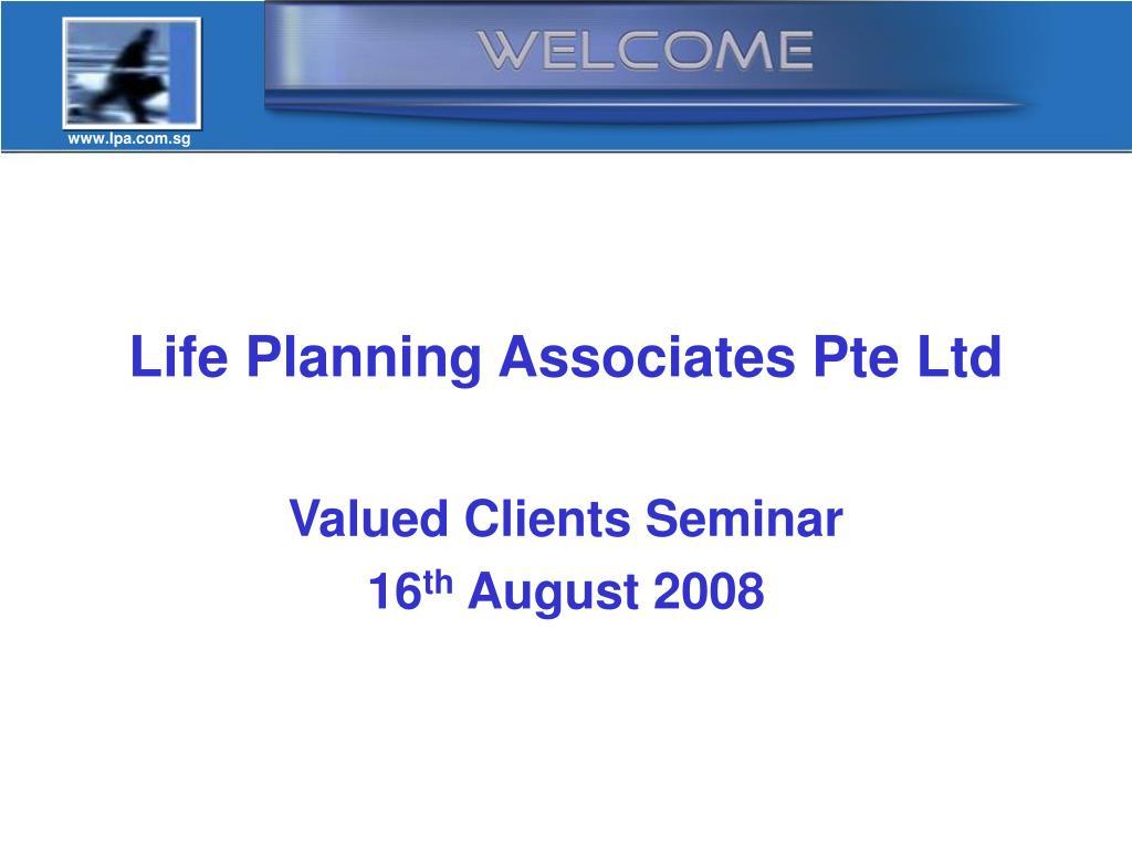 Life Planning Associates Pte Ltd