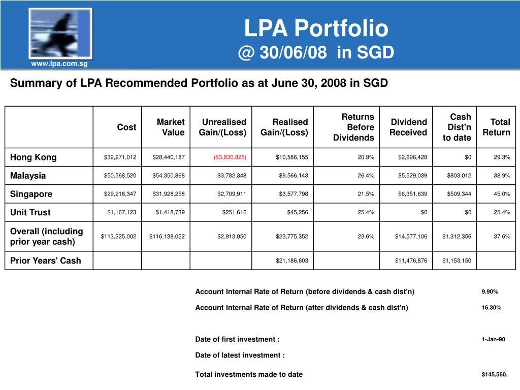 LPA Portfolio