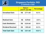 singapore portfolio roi @ 30 06 08 in sgd