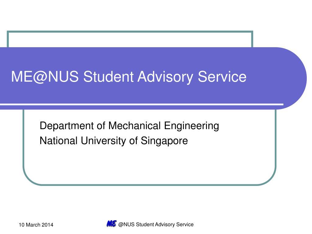 ME@NUS Student Advisory Service