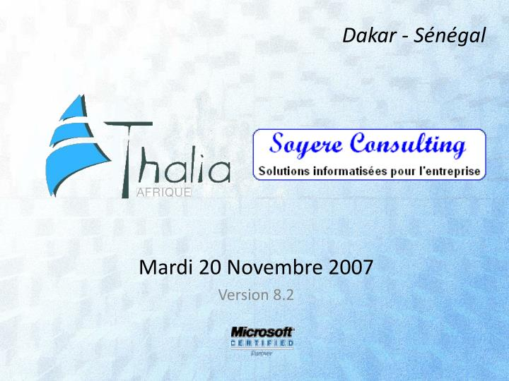 Mardi 20 novembre 2007 version 8 2