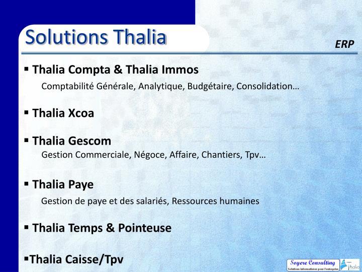 Solutions Thalia