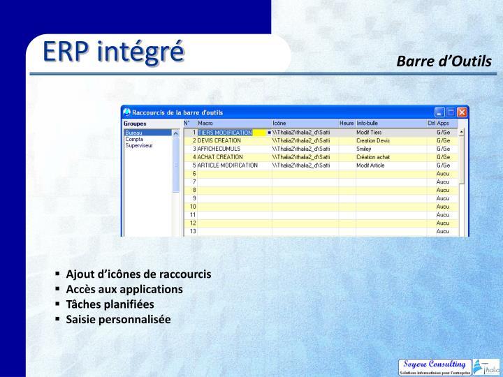 ERP intégré
