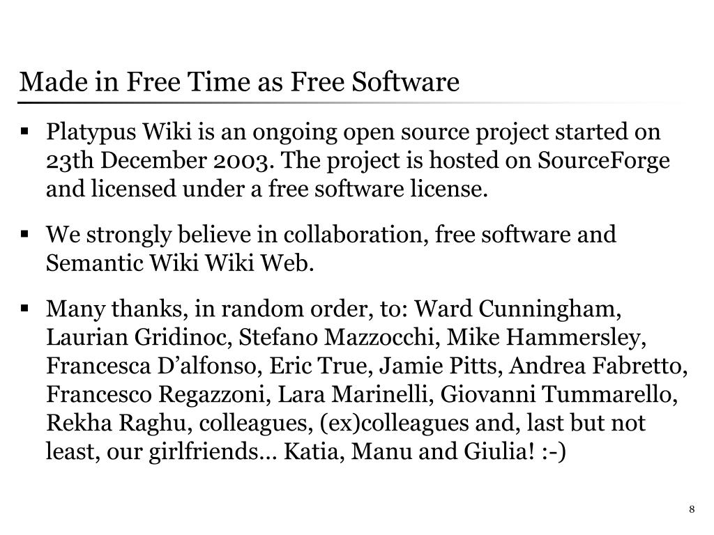 Made in Free Time as Free Software