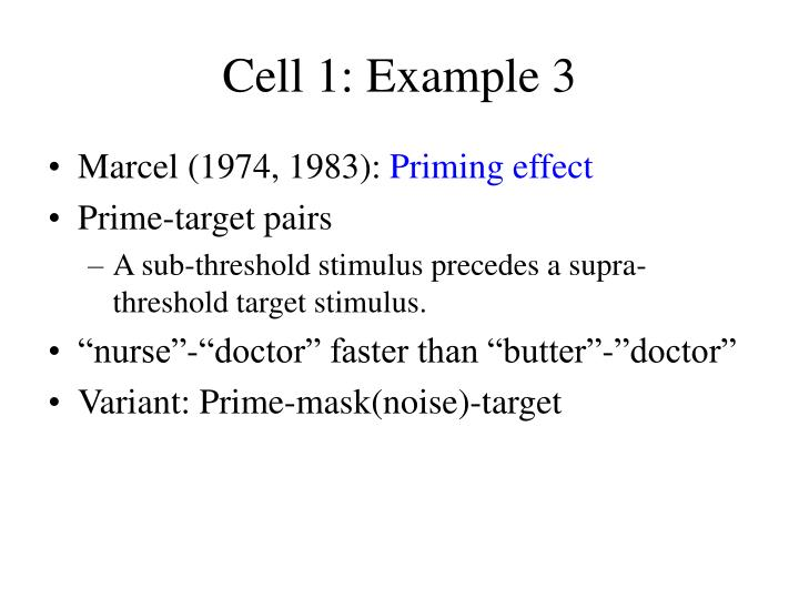 Cell 1: Example 3