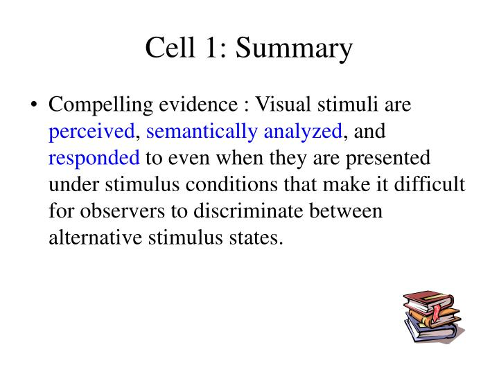 Cell 1: Summary