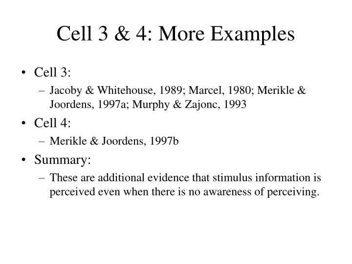 Cell 3 & 4: More Examples