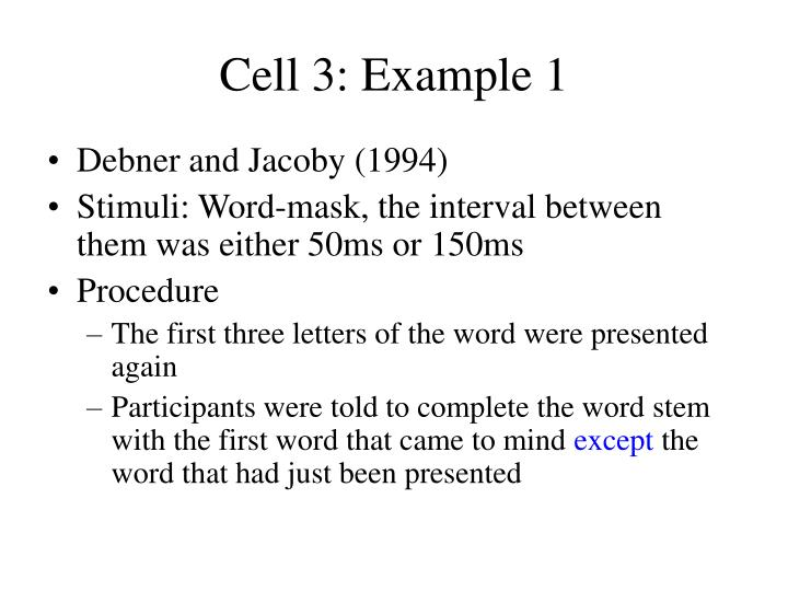 Cell 3: Example 1