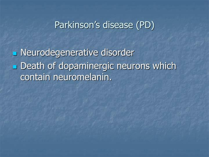 Parkinson s disease pd