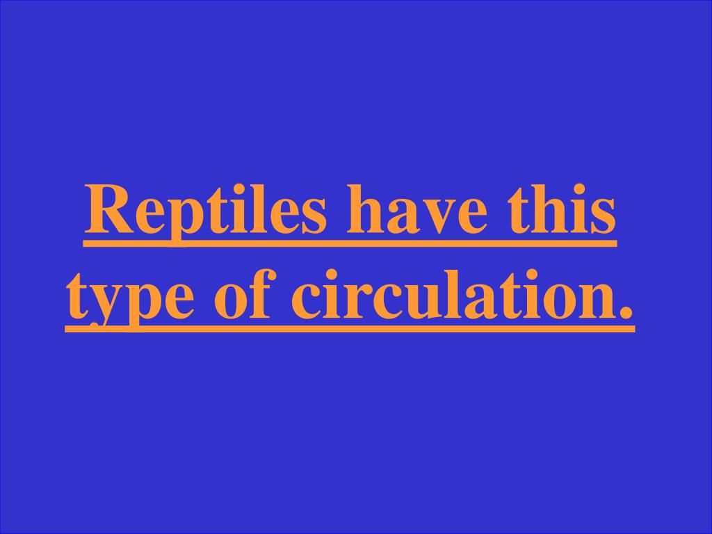 Reptiles have this type of circulation.
