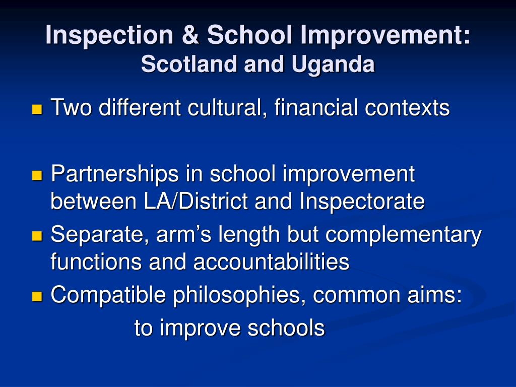 Inspection & School Improvement: