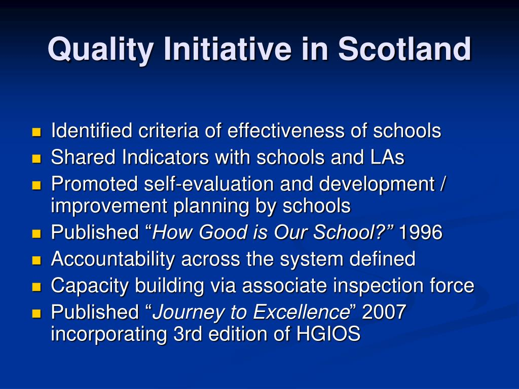 Quality Initiative in Scotland