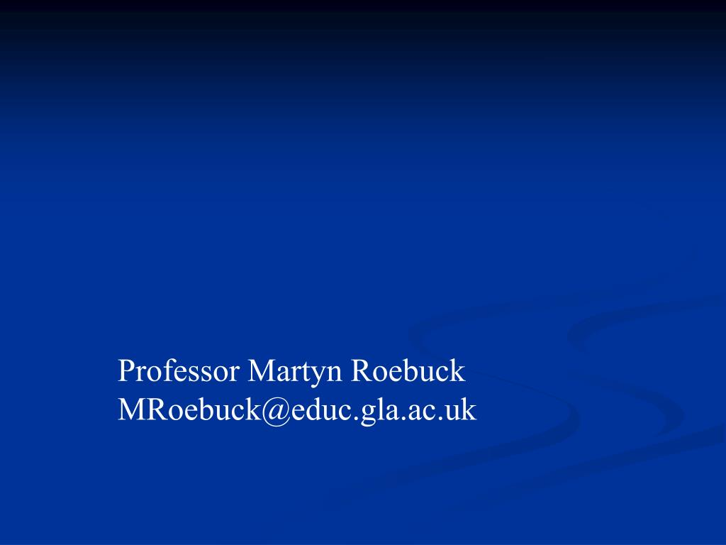 Professor Martyn Roebuck