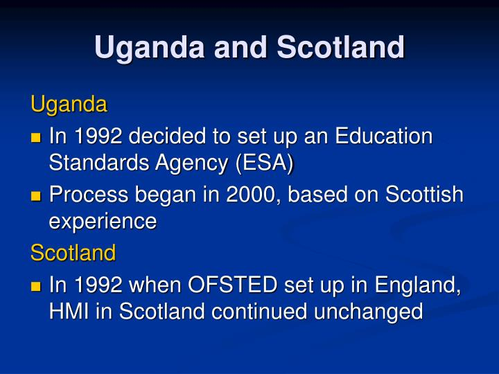 Uganda and scotland