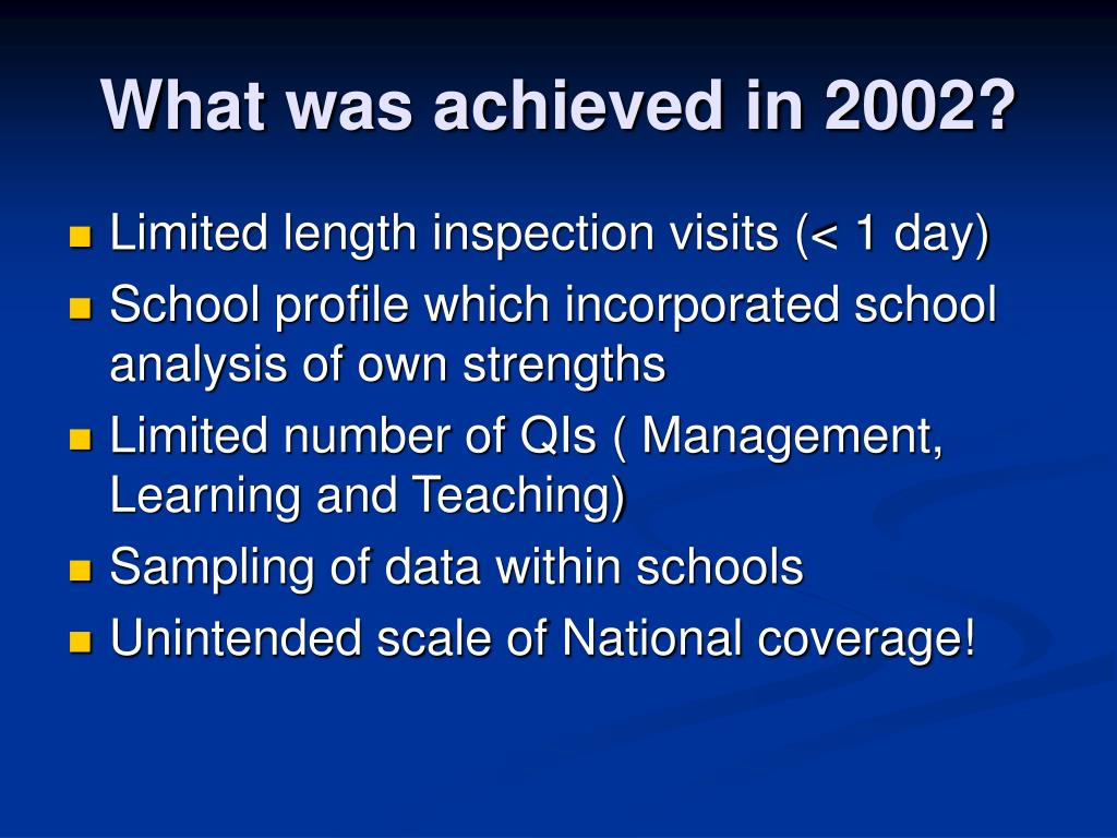 What was achieved in 2002?