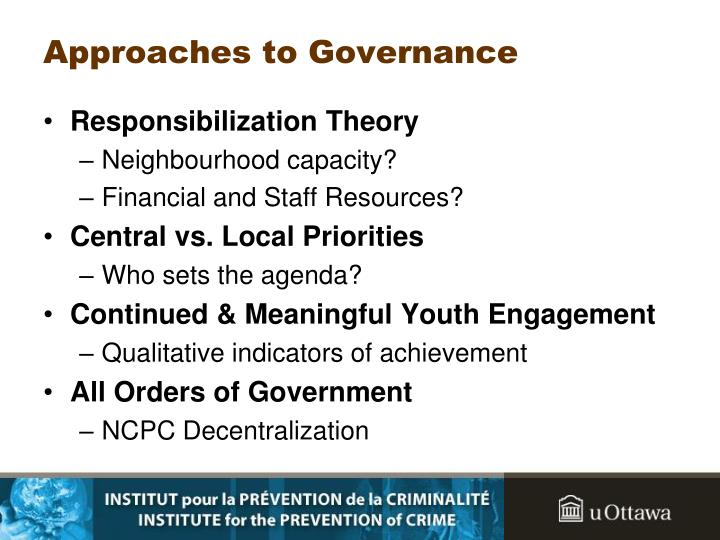Approaches to governance l.jpg