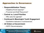 approaches to governance