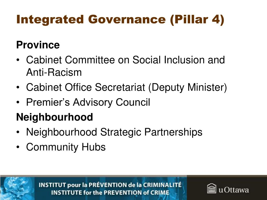 Integrated Governance (Pillar 4)