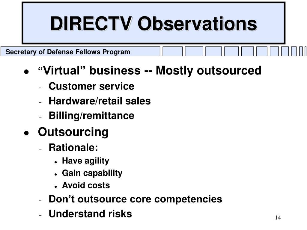 DIRECTV Observations
