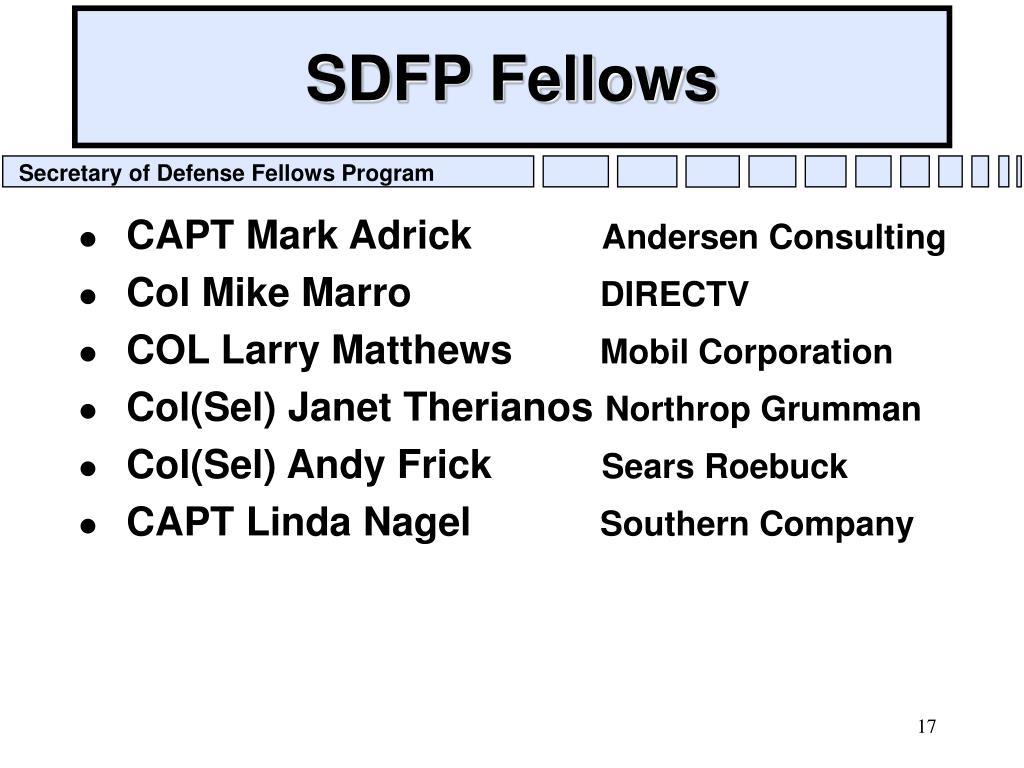 SDFP Fellows